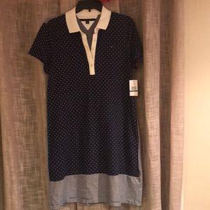 New Tommy Hilfiger Comfortable Striped/Dot Dress